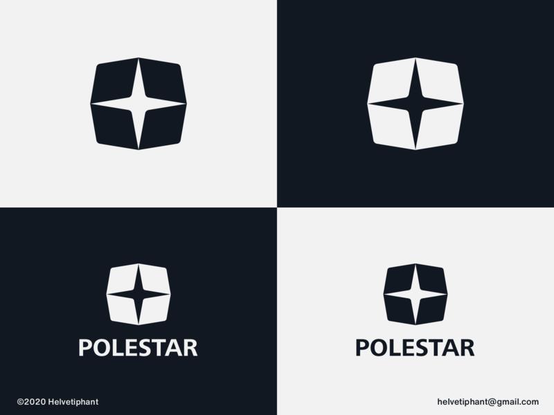 Polestar - logo concept logomark minimalist logo star logo creative logo northstar polestar negative space logo brand designer logo design concept logo designer logo design brand design logotype branding icon logo