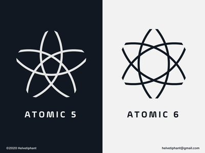 Atomic - logo concepts creative logo geometric design pentagon logo hexagon logo atomic design geometric logos logo designer brand designer logo design concept logo design brand design logotype branding icon logo