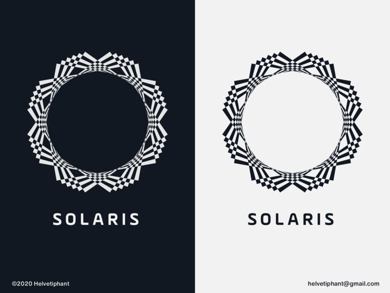 Solaris - logo concept solar creative logo solaris brand designer logo design concept logo designer shapes logo design brand design logotype branding icon logo
