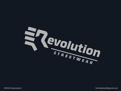 Revolution Streetwear - logo concept wordmark fist fashion label fashion logo creative logo r letter logo wordmark logo expressive typography revolution brand designer logo design concept logo designer logo design brand design logotype typography icon branding logo