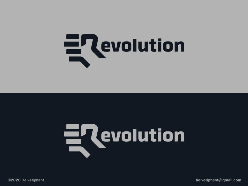 Revolution - logo concept logo creator logotype design lettermark revolution fist logo r letter logo wordmark creative logo brand designer logo design concept logo designer logo design brand design logotype typography branding logo