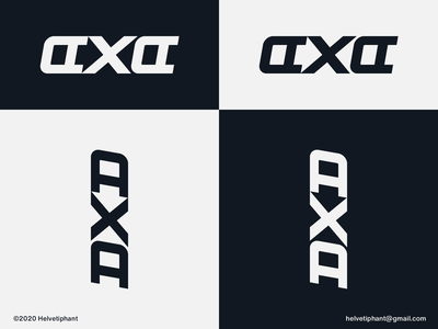 AXA - logo concept custom lettering custom logo axa wordmark logo branddesigner negative space logo creative logo logo design concept logo designer logo design brand design logotype typography branding logo