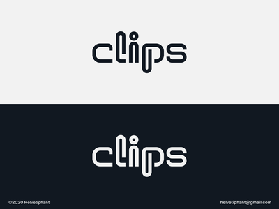 clips - logo concept letter design paper clips word mark lettering custom lettering custom type lettermark expressive typography wordmark clips creative logo logo design concept logo designer logo design brand design logotype typography branding icon logo