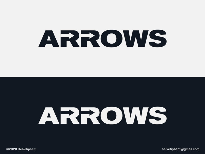 Arrows designideas designinspiration wordmark wordmark logo expressive typography arrows arrow logo negative space logo creative logo brand designer logo design concept logo designer logo design logotype typography branding logo