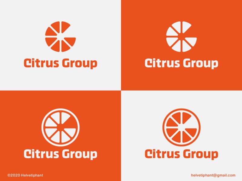 Citrus Group - logo concept logo idea logo inspiration lettermark logo lettermark g letter logo citrus logo negative space logo creative logo logo design concept logo designer logo design brand design logotype typography branding icon logo