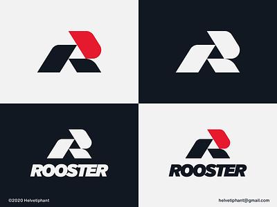 Rooster - logo concept lettermark logo modern logo abstract logo minimalist logo r letter logo rooster logo creative logo brand designer logo design concept logo designer logo design brand design logotype typography branding icon logo