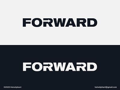 Forward - logo concepts minimalist logo wordmark logo expressive typography arrow logo forward negative space logo creative logo brand designer logo design concept logo designer logo design brand design logotype typography branding logo