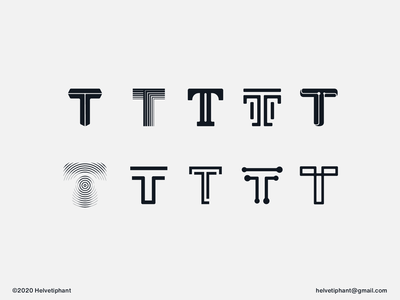 T letter - Logo Exploration minimalist logo t letter logo logo exploration creative logo brand designer logo design concept logo designer logo design brand design logotype typography branding icon logo