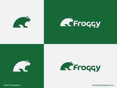 Froggy - logo concept golden ratio logo mark kissing frog modern logo minimalist logo frog logo logo design logo designer brand designer creative logo logo design concept brand design logotype typography branding icon logo