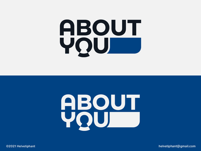 About You - wordmark concept wordmark custom lettering custom logo abstract logo about you negative space logo creative logo logo design concept logo designer logo design brand design logotype typography branding logo