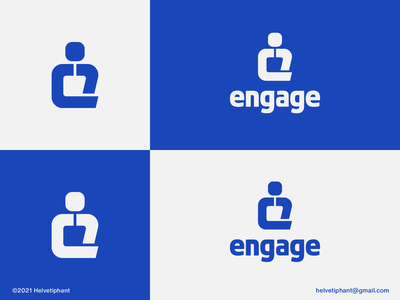 engage - logo concept logotype engage e letter logo lettermark brand designer logo design creative logo logo design concept logo designer brand design typography branding icon logo