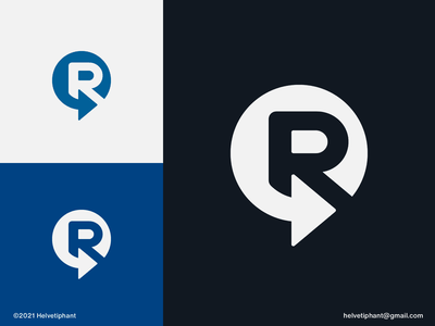 R-circle - lettermark concept reconnect rotate recycle renewable rotation arrow logo custom logo minimalist logo lettermark negative space logo logo designer creative logo logo design concept logo design brand design logotype typography branding icon logo