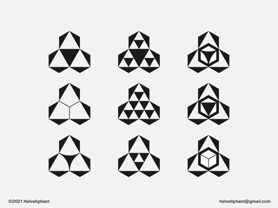 Prysmagon Variations - icon design timeless logo modern logo minimalist logo triangle logo hexagon logo technology logo tech logo shapes prism brand designer negative space logo creative logo logo design concept logo designer logo design brand design logotype branding icon logo