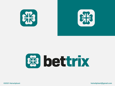 bettrix - Logo Proposal abstract logo arrow logo minimalist logo online betting online gaming betting clover lucky creative logo brand designer logo design concept logo designer logo design brand design logotype branding icon logo
