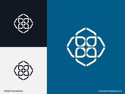 Geometric Flower - logo concept geometric design intersecting flower logo mark icon design minimalist logo line logo brand designer logo design concept creative logo logo designer logo design brand design branding icon logo