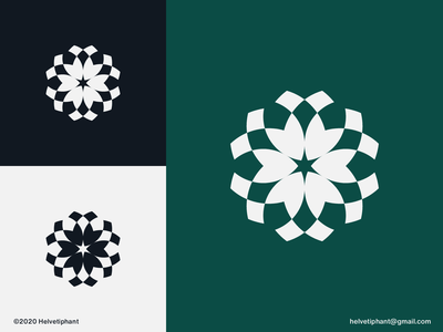 Rosetta - logo concept geometric design flower blooming abstract logo minimalist logo geometric logo brand designer logo design concept creative logo logo designer logo design brand design branding icon logo