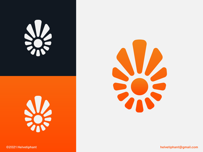 Sunburst - logo concept holliday travel warm fun exclamation mark upwards positive sunny gradient logo minimalist logo sun logo logo design concept creative logo logo designer logo design brand design branding icon logo