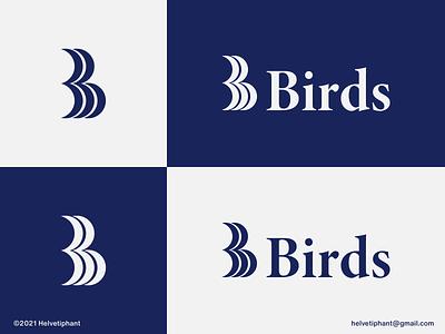 Birds - logo concept custom logo branding design lettermark logo b letter logo birds logo brand designer minimalist logo creative logo logo design concept logo designer logotype brand design typography branding icon logo