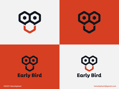 Early Bird - logo concept designinspiration designideas fun logo logo mark mark modern logo custom logo hexagon logo early bird bird logo minimalist logo brand designer creative logo logo design concept logo designer logo design brand design branding icon logo