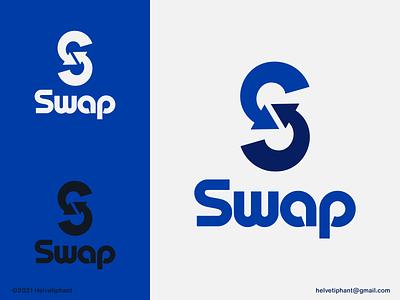 Swap - logo concept crypto currency crypto exchange crypto modern logo minimalist logo arrow logo s letter mark s letter logo logo designer logo design brand designer creative logo logo design concept logotype typography brand design branding icon logo