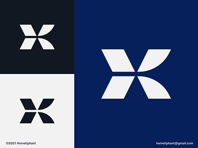 K Lettermark - logo concept abstract logo letter mark logo k letter mark k letter logo modern logo minimalist logo logo design concept creative logo logo designer logo design logotype typography brand design branding icon logo