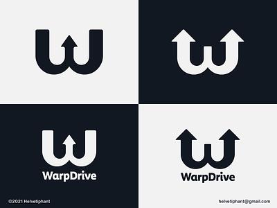 WarpDrive - logo proposal warp w mark w logo arrow logo abstract logo minimalist logo creative logo brand designer logo design concept logo designer logo design logotype typography brand design branding icon logo