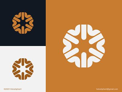 Flourish - logo concept flat logo mark custom logo abstract logo flower logo minimalist logo brand designer creative logo logo design concept logo designer logo design logotype brand design branding icon logo