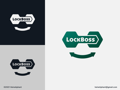 LockBoss logo designer brand designer modern logo security logo creative logo face logo smile sunglasses key logo lock logo logo design brand design branding icon logo