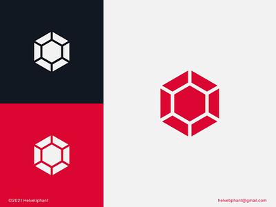 Ruby - logo concept logo designer jewel logo flat logo crypto currency coin hexagon geometric logo mark minimalist logo logo concept ruby logo design brand design branding icon logo