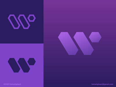 W Hexabars - logo concept geometric logo crypto blockchain logo designer letter mark w letter logo hexagon logo modern logo minimalist logo creative logo logo design brand design icon branding logo