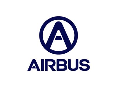 Airbus industry manufacturer airbus aeronautics icon typography brand design branding logo