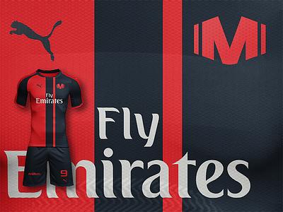 AC Milan - Dress Kit club football brand design icon logo