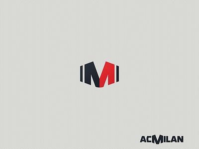 AC Milan - M-Icon club football brand design icon logo