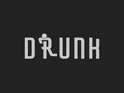 Drunk fun typography