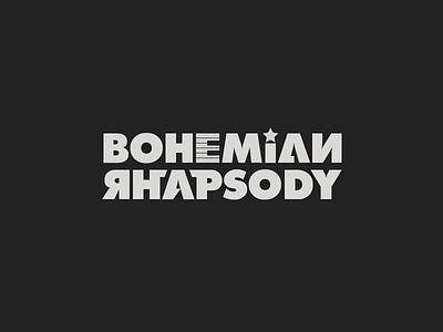 Bohemian Rhapsody music rock band queen logo typography