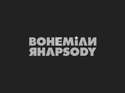 Bohemian Rhapsody logo typography
