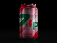 7up Cherry - can design