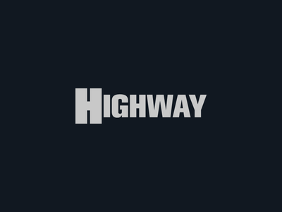 Highway - semantic bold expressive logo typoraphy semantic