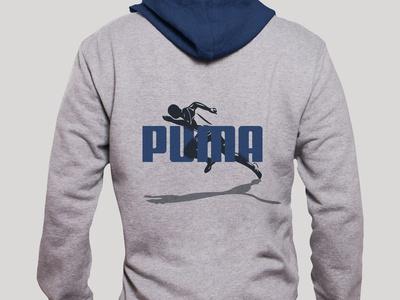 PUMA - Runner Hoodie textile design vector illustration graphic design