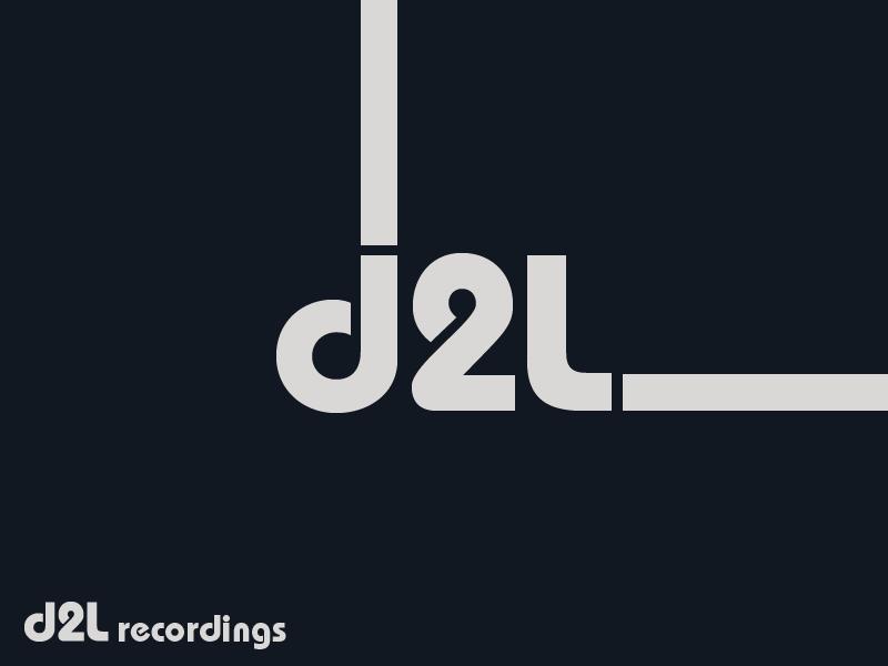 d2l recordings - minimal black record label music label graphic design brand design logotype typography logo