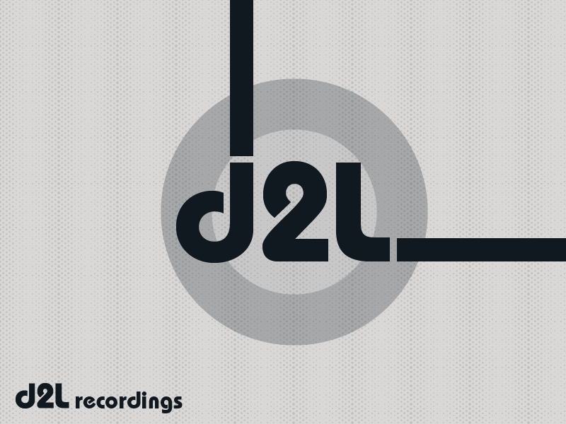 d2l recordings - minimal white music label record label brand design logotype typography branding logo