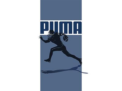 Puma - Football Player vector sport branding puma american football graphic design vector artwork illustration