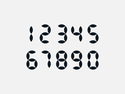 numbers - geometric design shapes geometric design numerology numbers graphic design typography