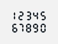 numbers - geometric design