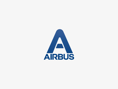 Airbus - Trigon airplanes aerospace airliners airbus graphic design iconotype brand design logotype typography branding icon logo