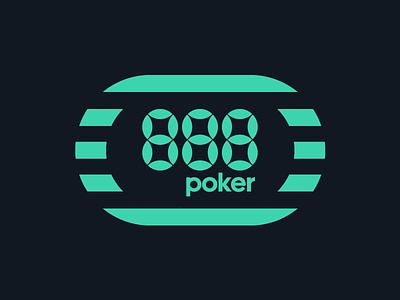 888poker online game poker 888 shapes graphic design brand design logotype typography branding icon logo