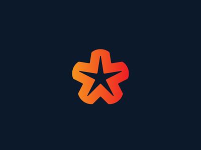 Starfish star logo starfish vector shapes brand design branding icon logo