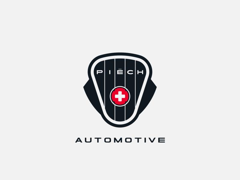 Piech Automotive logo concept logo conception logo design logodesign contruction manufacturer electric car shapes vector graphic design brand design typography branding icon logo