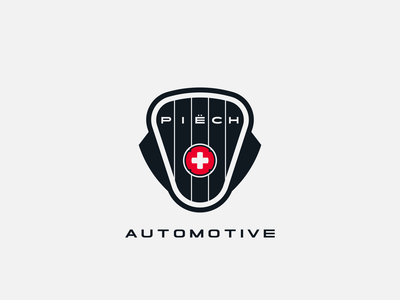 Piech Automotive logo concept logo conception logo design logodesign contruction manufacturer electric car shapes vector graphic design brand design typography branding icon logo
