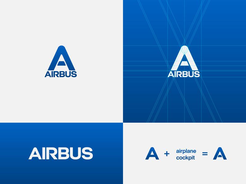 Airbus - proposal logo designer logo creator logo creation wordmark symbol icon logo construction logo concept logo design airplane manufacturer aerospace aircraft airbus brand design logotype typography branding icon logo